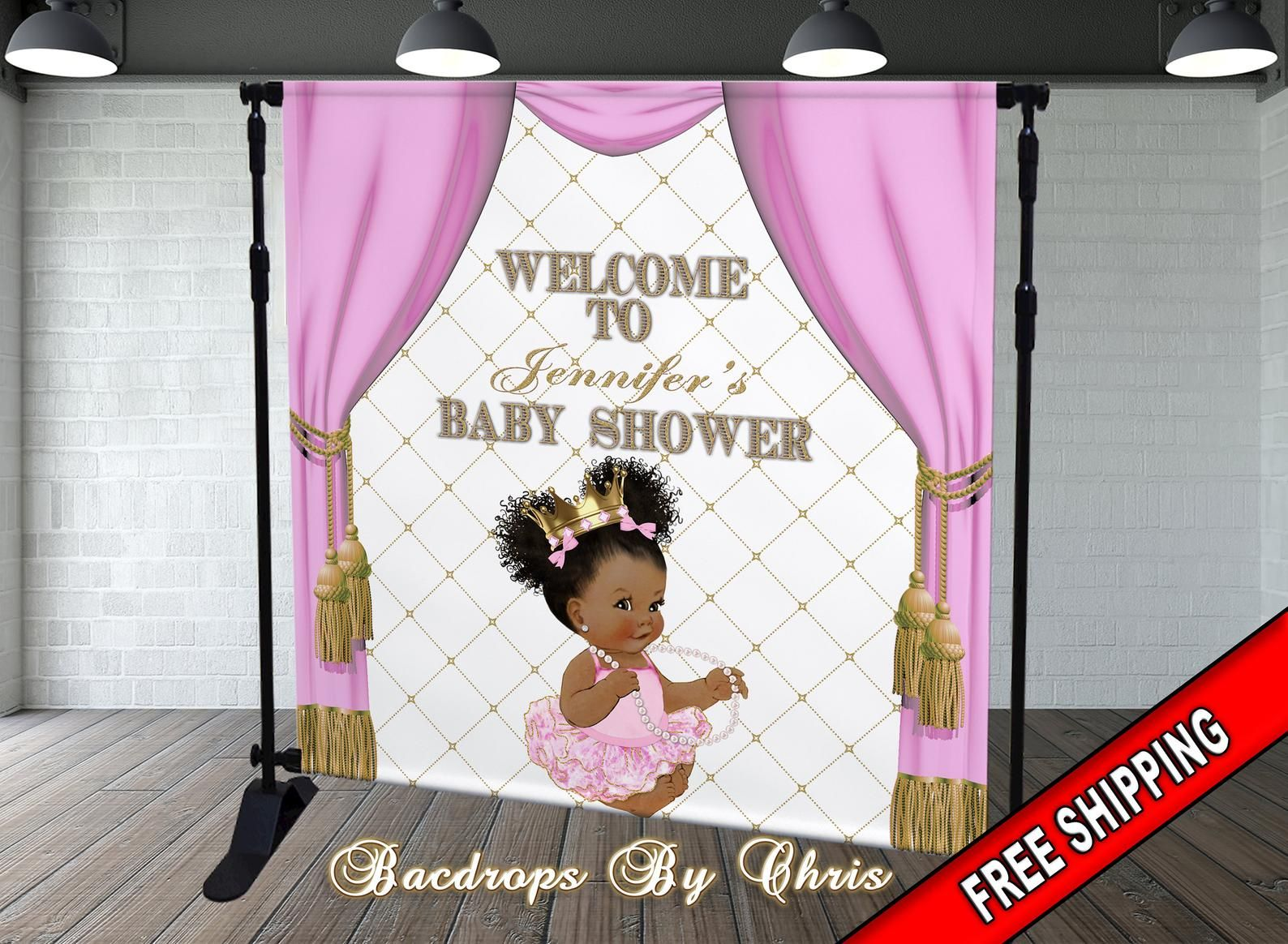 Princess Backdrop Princess Banner Baby Shower Princess Etsy In 2020 Princess Backdrops Princess Banner Baby Shower Princess