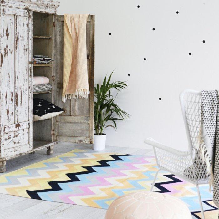 Vintage Teppiche und Tapeten für kreative Interieurs Haus - fliesen tapete küche