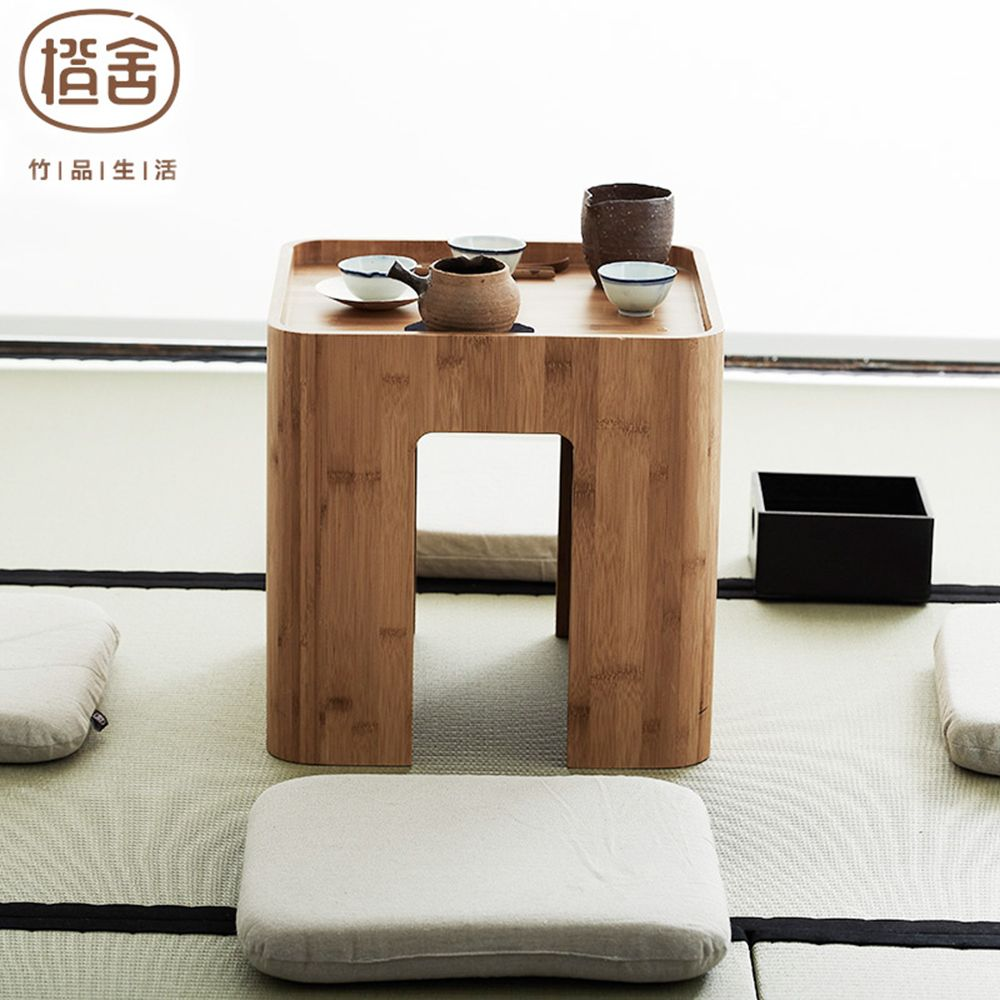 zen's bamboo tatami table simple design bamboo stool tea