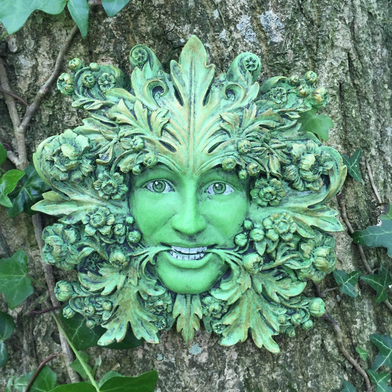 Green Mistress Green Woman, Greenman Decorative Garden Wall Plaque ...