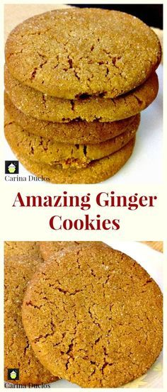 Amazing Ginger Cookies! Easy recipe and perfect with a cup of tea or glass of…