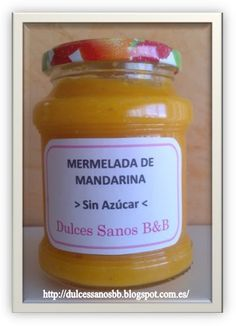 Dulces Sanos BB MERMELADA DE MANDARINA SIN AZCAR
