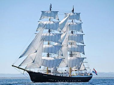2005 Custom Two Masted Square Rigged Brig Tall Ship Power