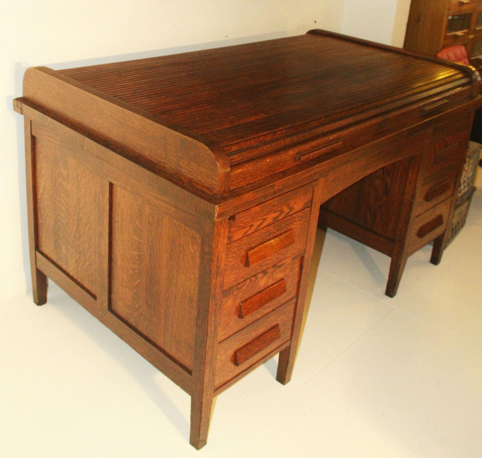 oak desks desk roll antique antiques edwardian top world