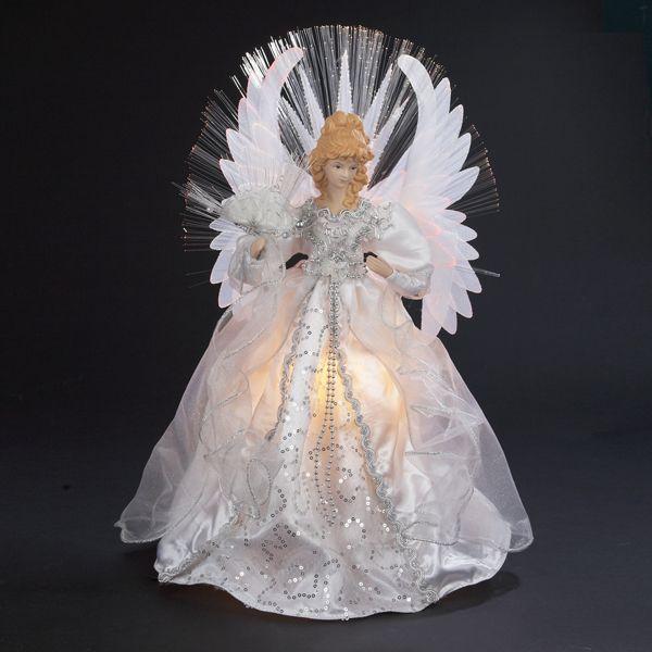 FIBER OPTIC WHITE AND SILVER #ANGEL #TREETOPPER # UL2198 ...