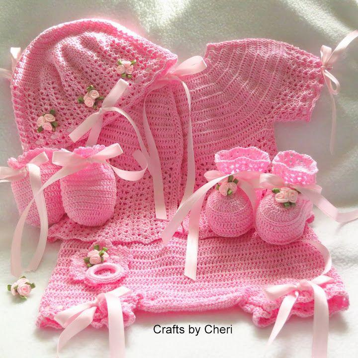 78c546372714 Crafts by Cheri 3 month Crochet baby Sweater set