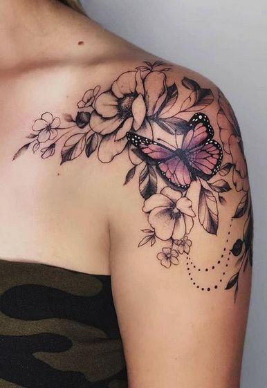 Photo of Papillon Tatouages Archives TattManiaTattMania #flowertattoos