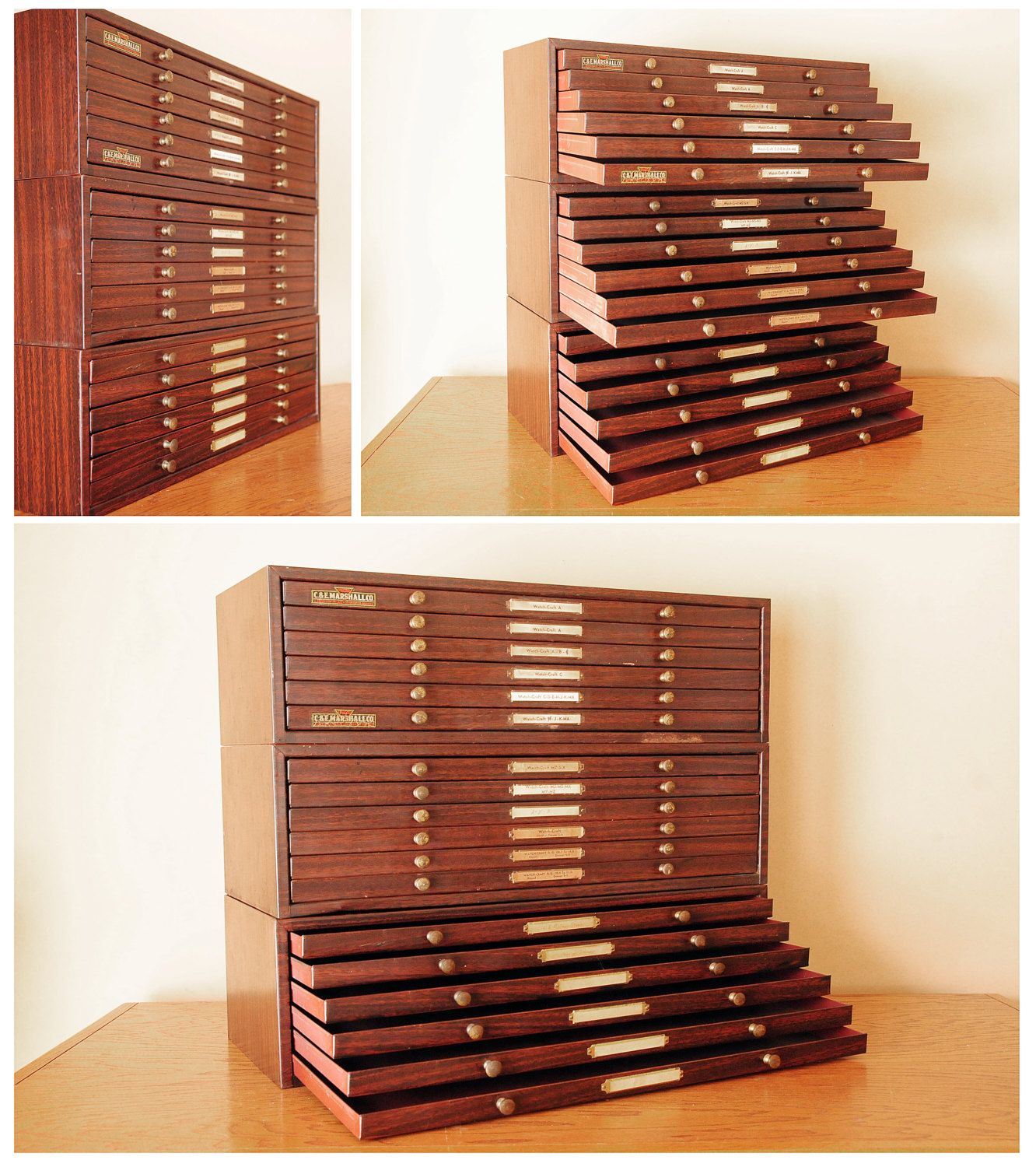 watchmakers cabinet - 18 drawer storage brass knobs | Oustanding ...