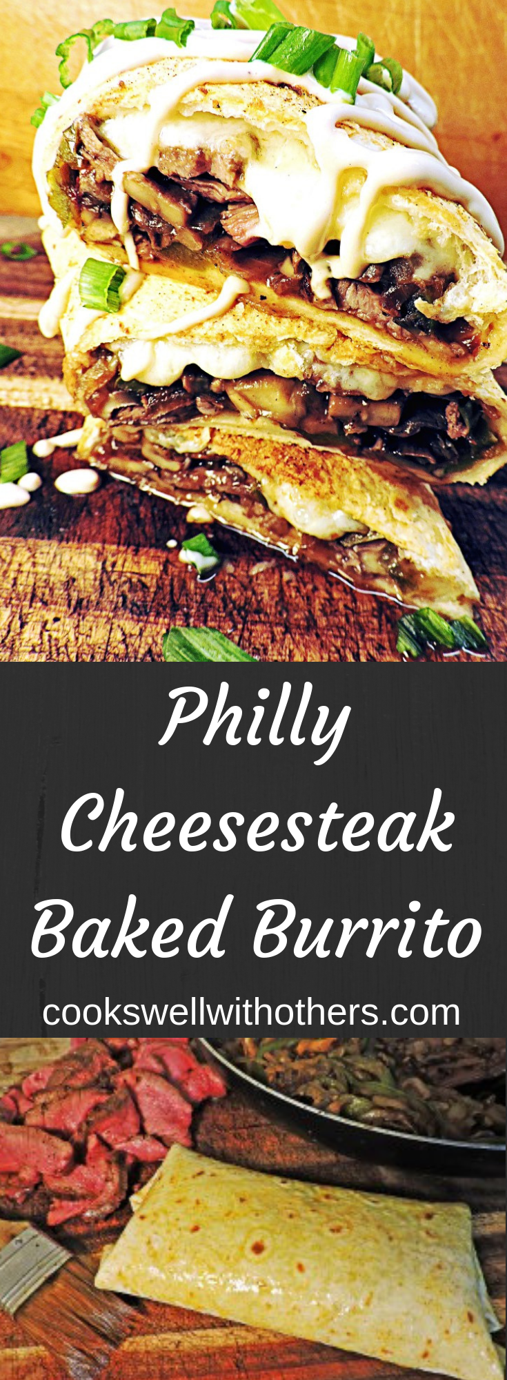 Philly Cheesesteak Baked Burrito Recipe Baked Burritos