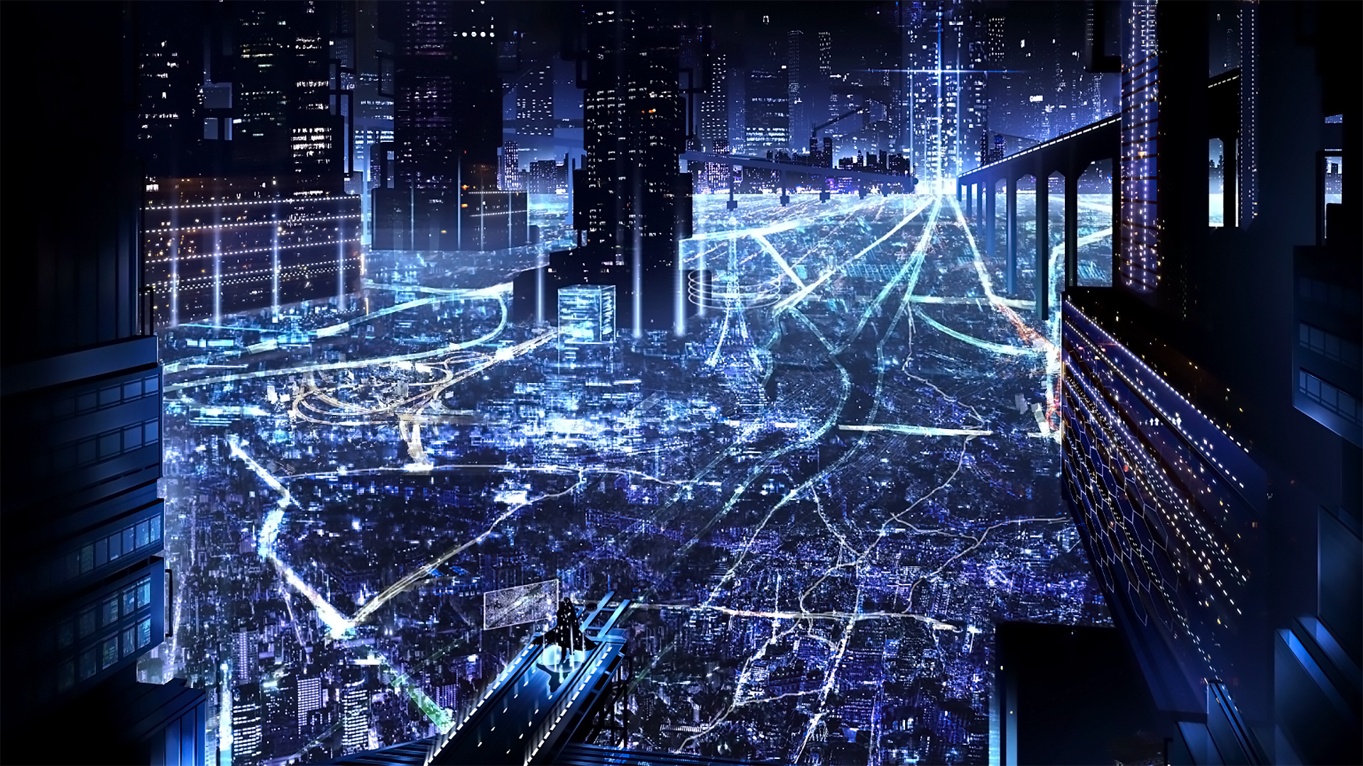 Anime Background City Night Anime Wallpapers