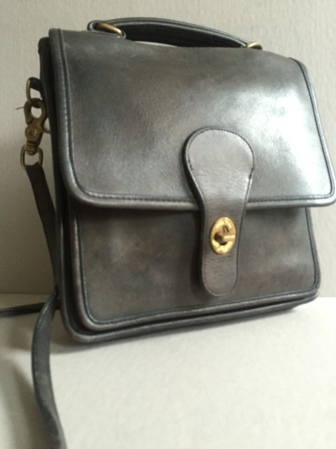 Coach Willis Station Bag Black Leather Crossbody 5130 Made In The Us By Brocantebedstuy On Etsy