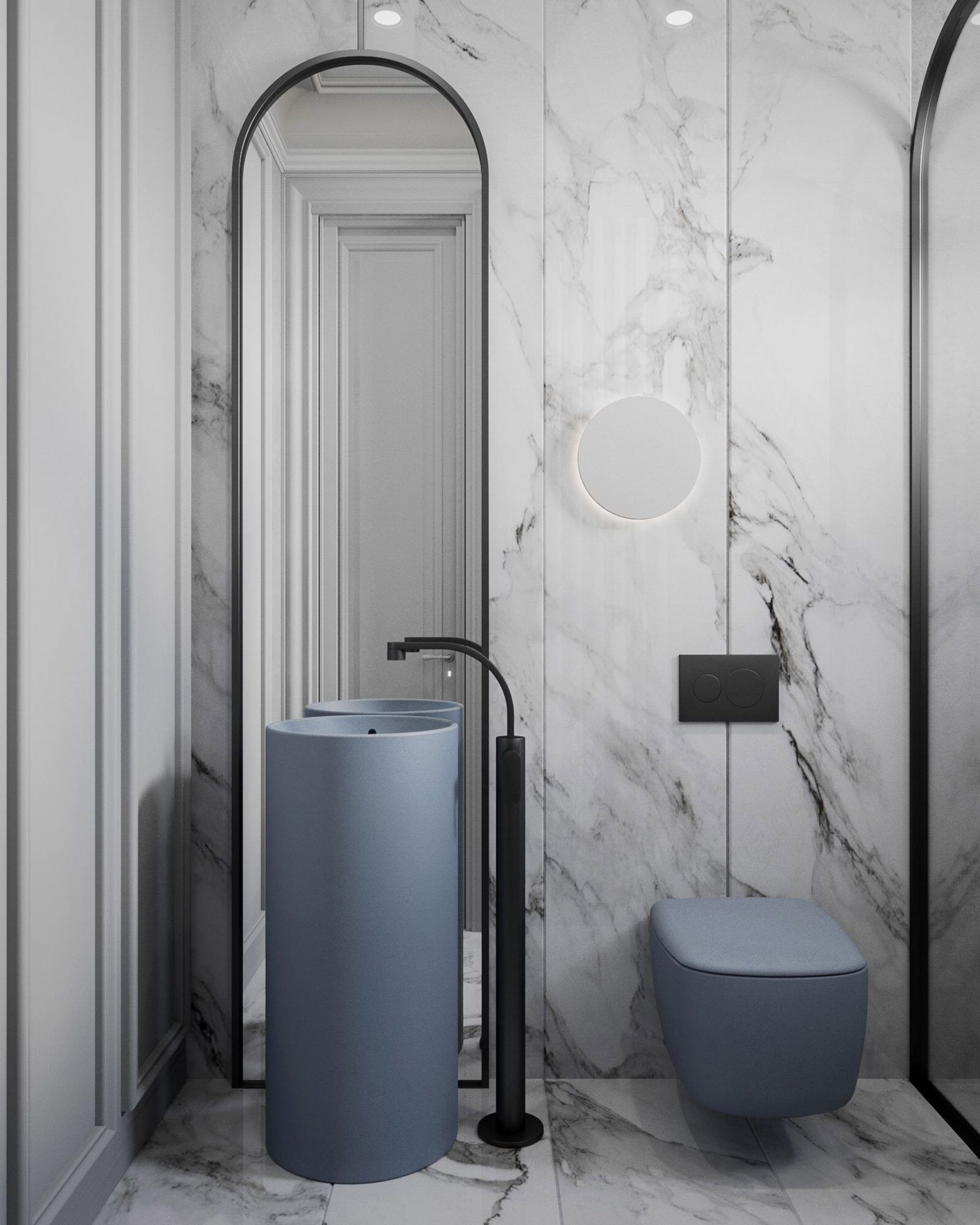 10 of the Most Exciting Bathroom Design Trends for 2019 #modernpowderrooms