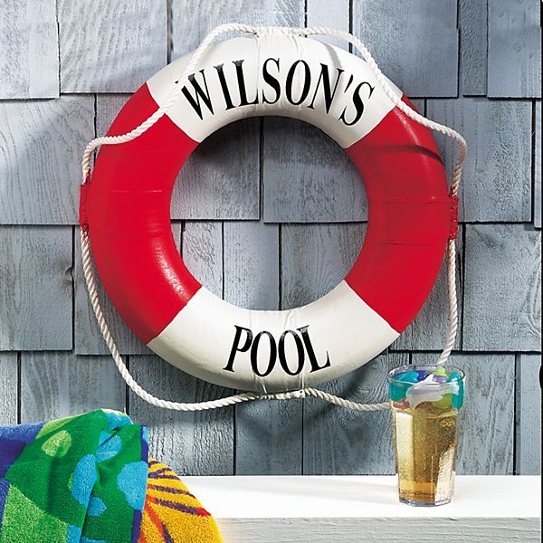 Life Preserver Ring in 2020 Family pool, Pool house