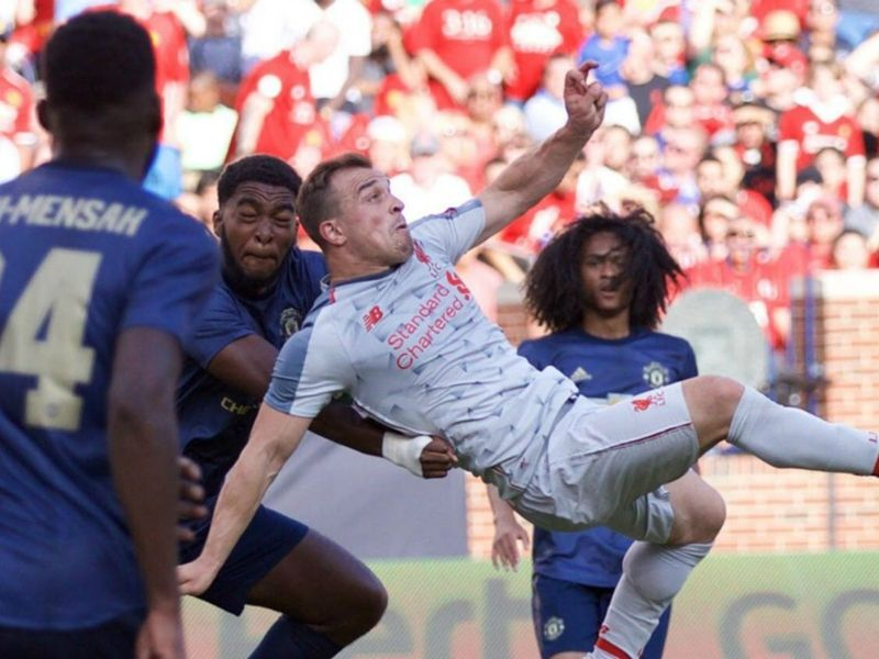 Soccer Xherdan Shaqiri Liverpool Goal That S Not Normal Jurgen Klopp Reacts To New Signing S Debut Strike Liverpool Goals World Sports News Bicycle Kick
