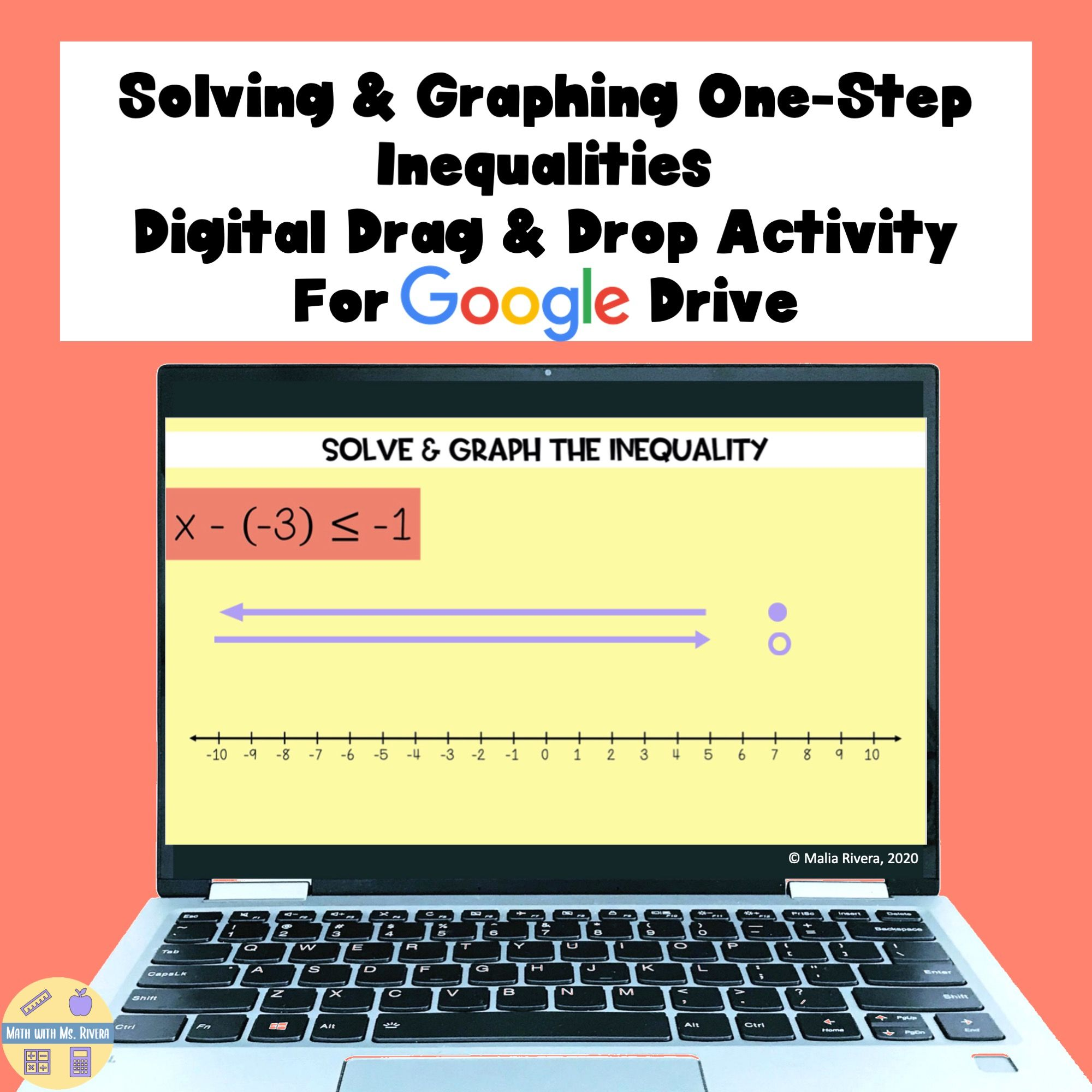 Solving Graphing One Step Inequalities Digital Drag Drop Distance Learning Graphing Inequalities Multi Step Inequalities Distance Learning [ 2000 x 2000 Pixel ]