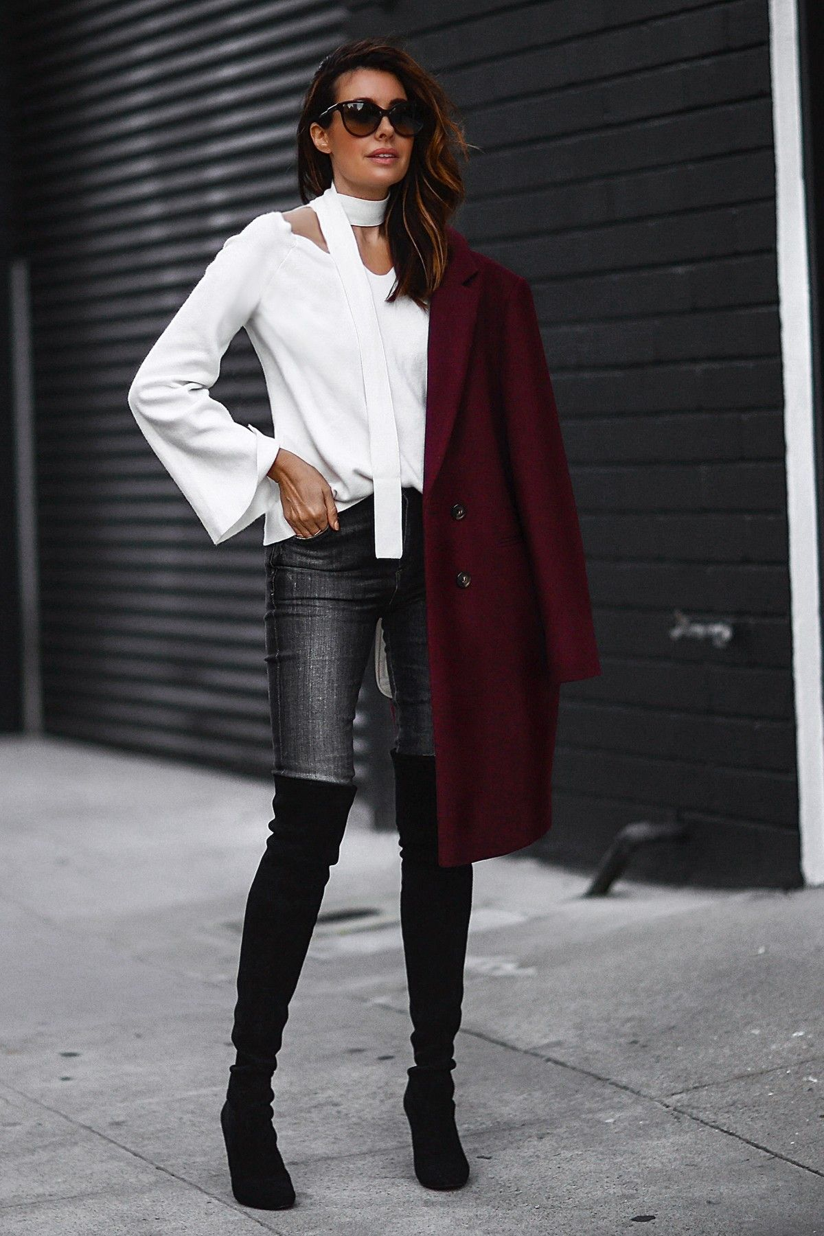 Sweater Weather: Skinny Scarf + Bell Sleeves | FASHIONED