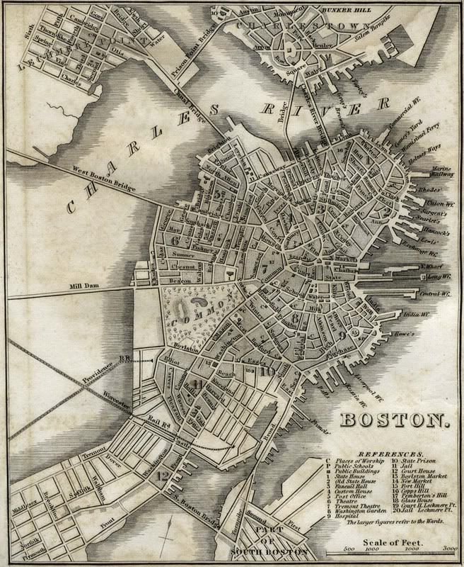 Antique Boston Map.Boston 1830s I Love Maps In 2019 Pinterest Map Boston Map