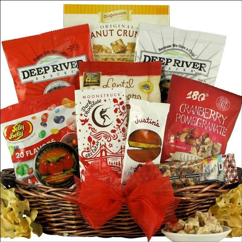 Gluten free healthy gift basket organic peanut butter cups negle Image collections