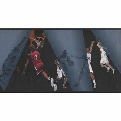 "Harriet Bee Cabe Basket Ball 15' L x 10.25"" W Wallpaper"