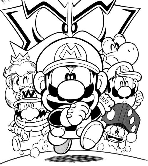From The Mario Party 3 Issue Of Super Mario Kun Mario Coloring Pages Super Mario Art Mario Art