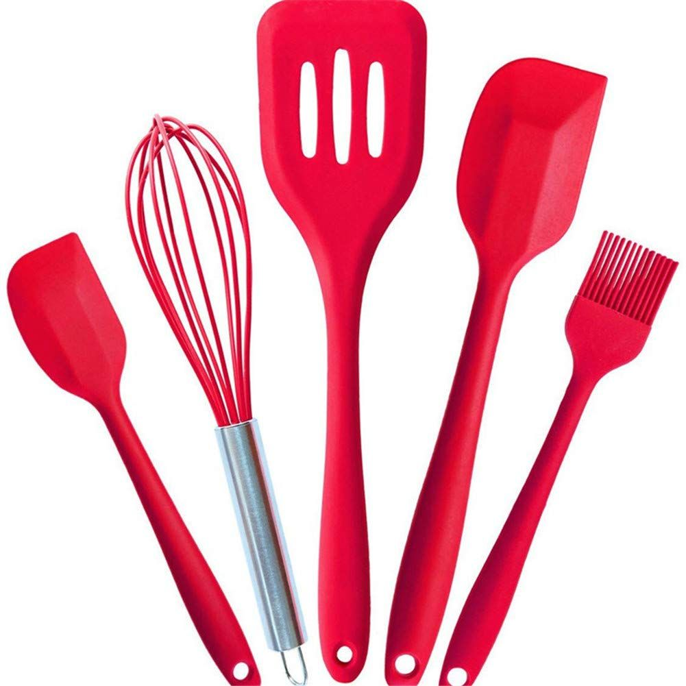 5 Pcs Silicone Bakeware Set Hygienic Kitchen Cooking Tools