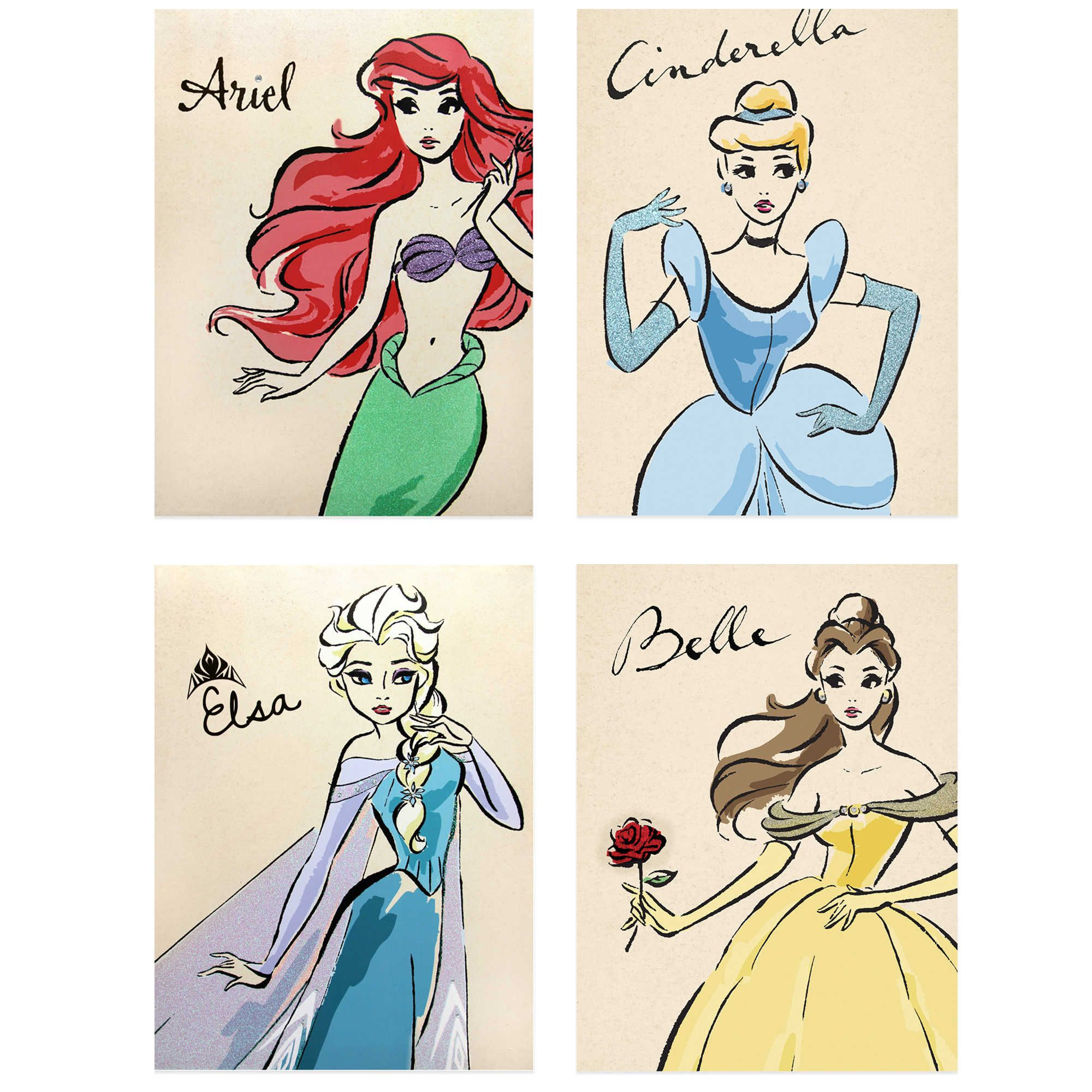 Disney Reg Princess Fashionista Wall Decor Collection Disney Princess Paintings Princess Canvas Princess Wall Art