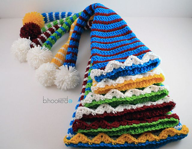 Ravelry Crochet Elf Hats For The Entire Family Pattern By Bhooked