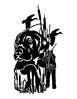 Black Lab Hunting Scene Hunting Decal Duck Hunting Decals