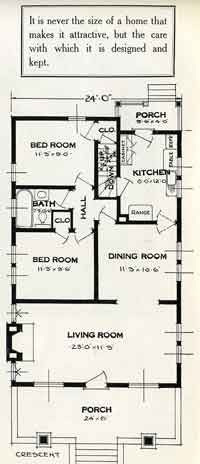 Standard Home Plans For 1926 The Crescent House Plans Craftsman Style Bungalow How To Plan