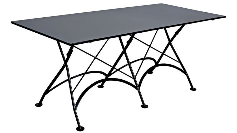 French Bistro 32 X 48 Inch Rectangular Steel Outdoor Folding Table Black Outdoor Folding Table Metal Dining Table Teak Dining Table