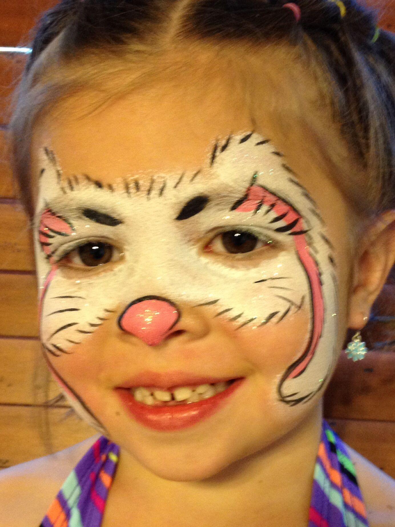 Easter bunny face painting by jennifer vandyke bunny