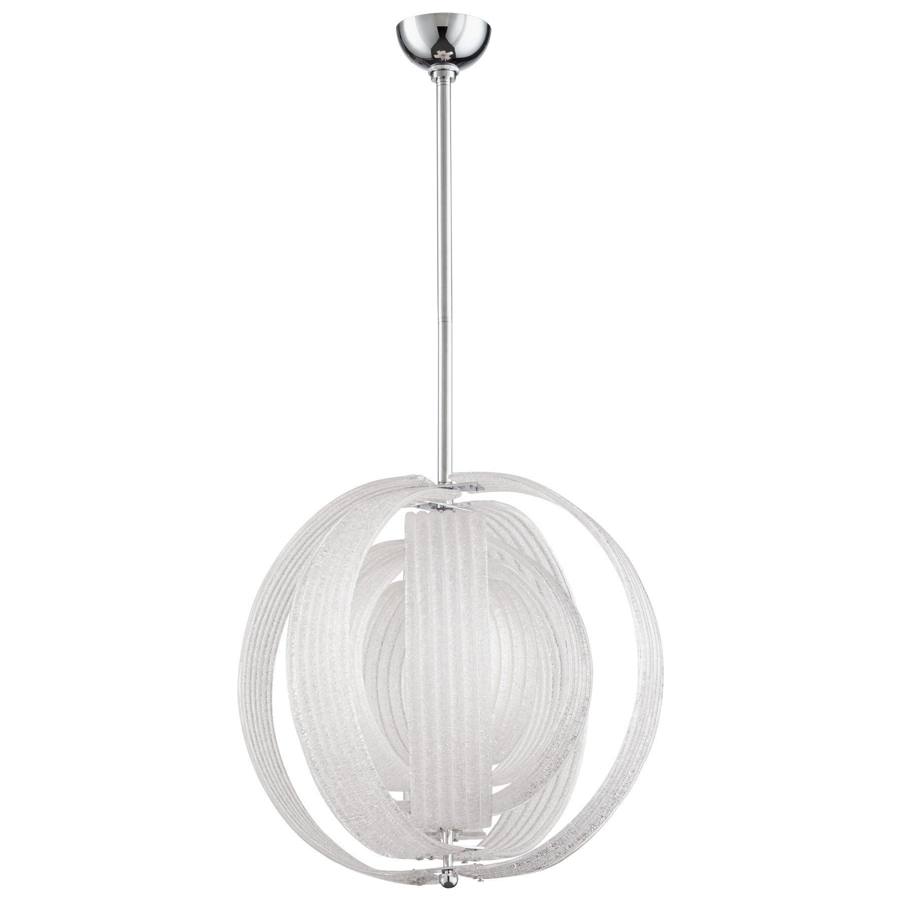 Proteus three light contemporary frosted glass pendant lighting