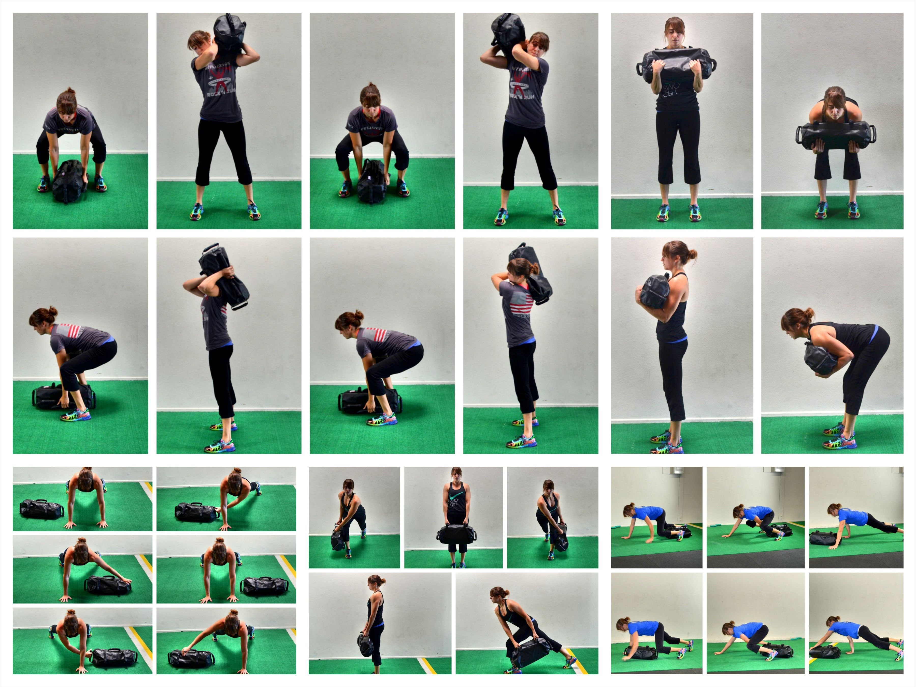 Фото упражнения с болгарским мешком