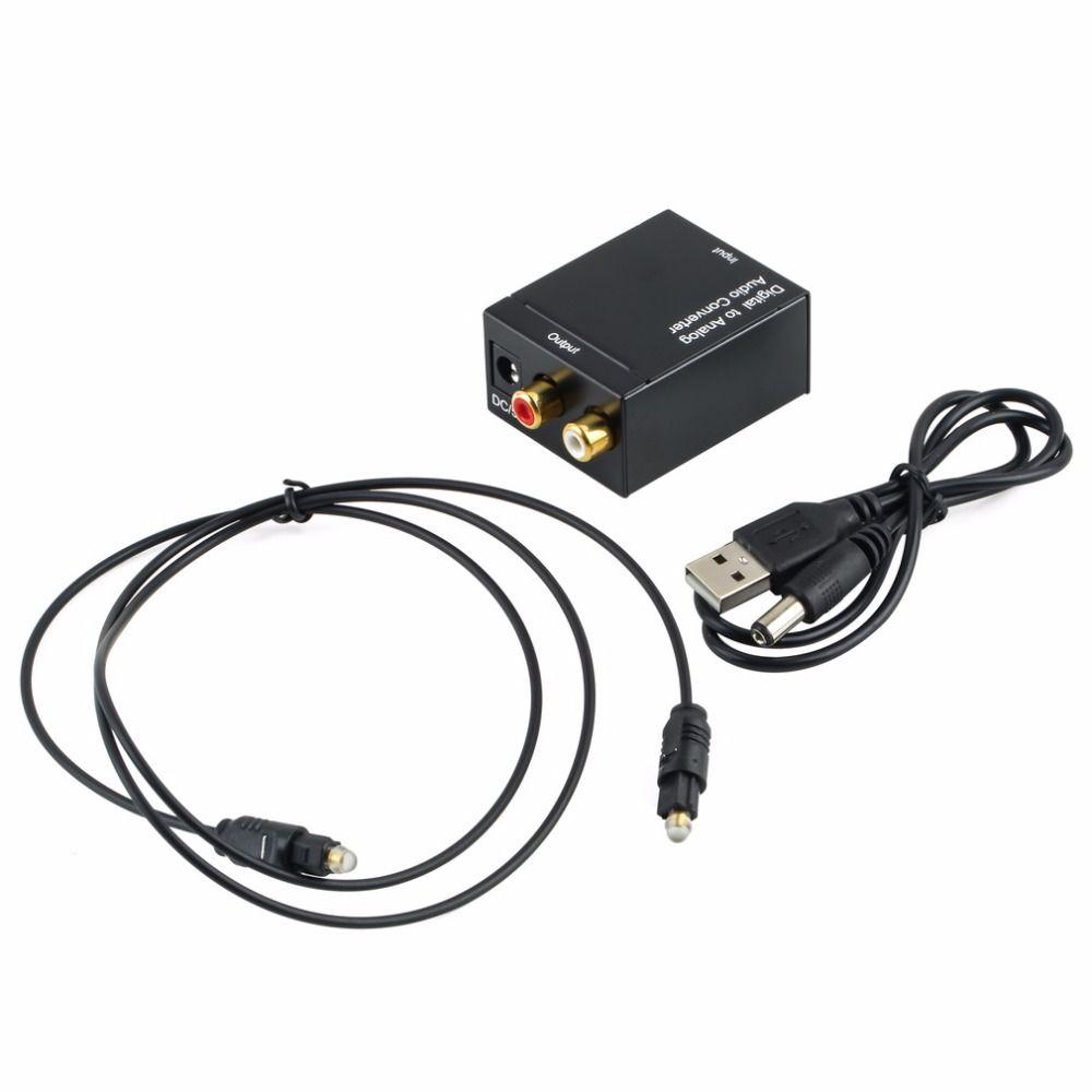 Digitale Optische Coax Toslink Signaal Audio Analoog Converter Adapter RCA Wereldwijd Winkel In Voorraad Hot Koop