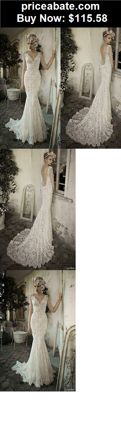 Wedding-Dresses: White/Ivory lace Mermaid Bridal Gown Wedding Dress Custom Size 4 6 8 10 12 14 16 - BUY IT NOW ONLY $115.58