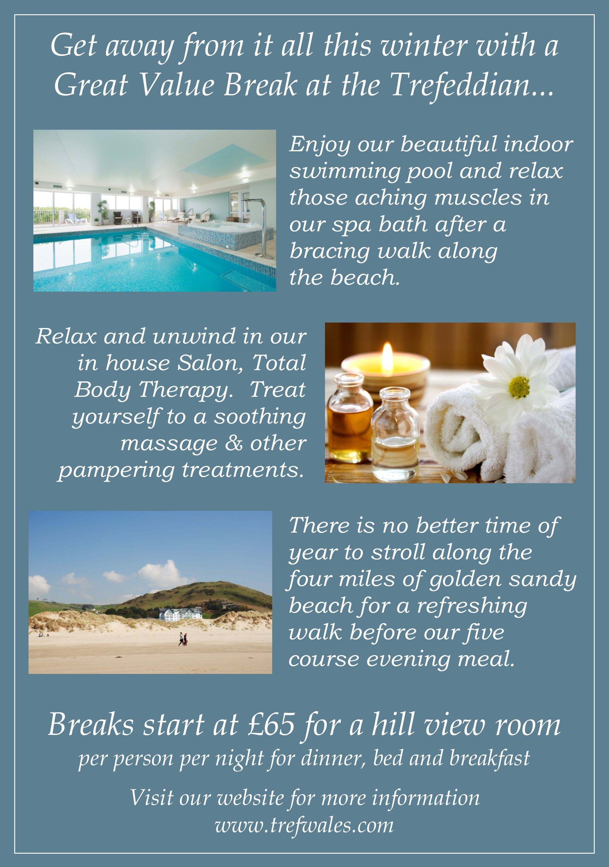 Why not join us for a Great Value Winter Break and escape those Winter Blues