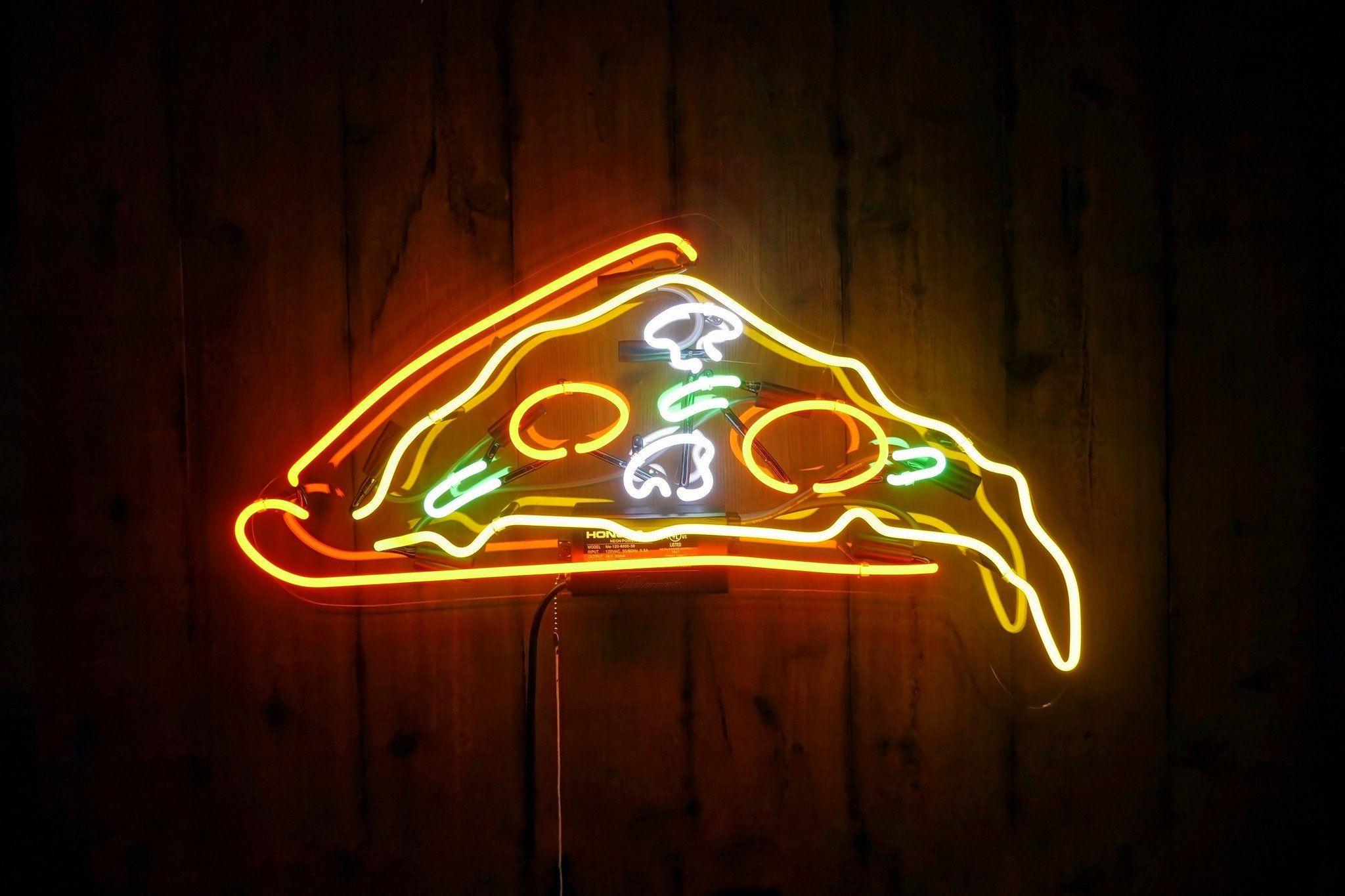 Pizza Slice Neon Sign | Jolly | Neon signs, Neon food, Neon