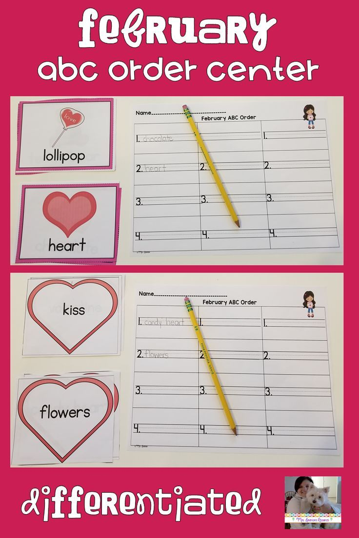 Check out this fantastic activity that helps students practice putting words in alphabetical order! This differentiated activity works great as a center activity, a stand alone activity, a collaborative table group activity or even can be sent home with families for some additional ABC order practice. #alphabeticalorder #elementary #vocabulary #wordwork #winter #February #valentinesday #center #teaching