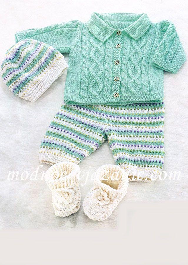 вязание для малышей спицами детские костюмчики вязание детское
