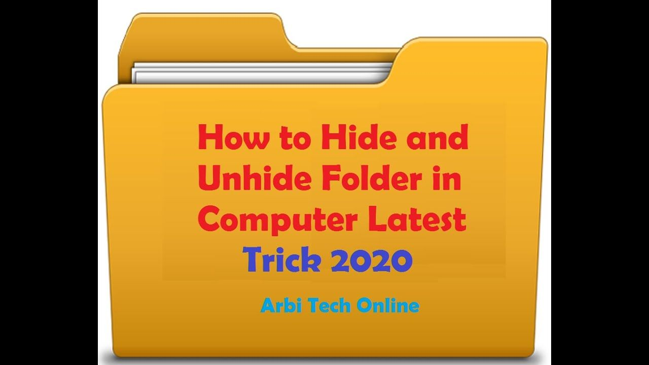 How to hide and unhide folder in computer latest trick