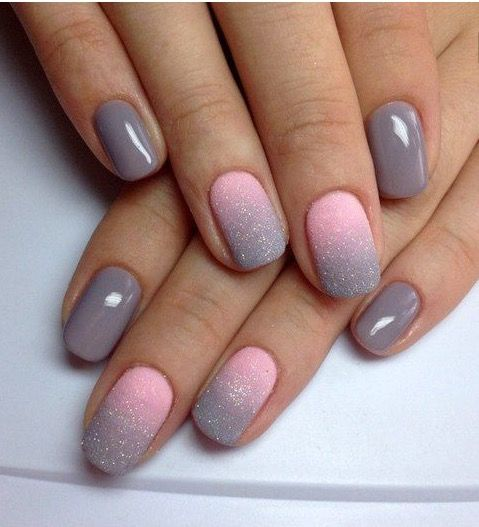 Nails, Gray Nails, Gel Nail