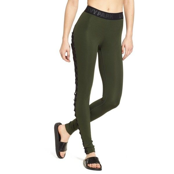 Active Lace Up Leggings In Khaki - Pine Ivy Park h5Oupef