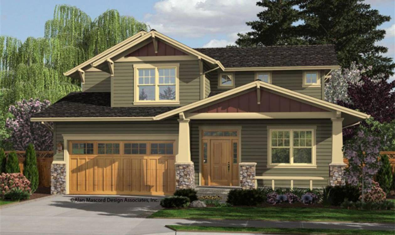 Front Rendering Craftsman house, Craftsman house plans