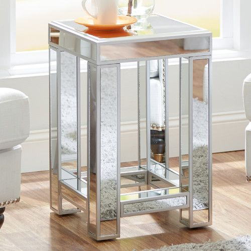 Found It At Wayfair Moonstone Mirrored Side Table Apartment - Wayfair mirrored side table