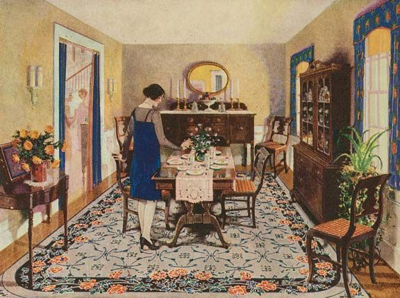 Dining 20s Inspiration Vintage House 1920s Home Decor Vintage Interiors