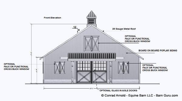 2 Two Stall Barn Plans - - Design Floor Plan | Barn plans ...