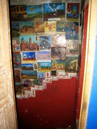 stairway filled with retablos