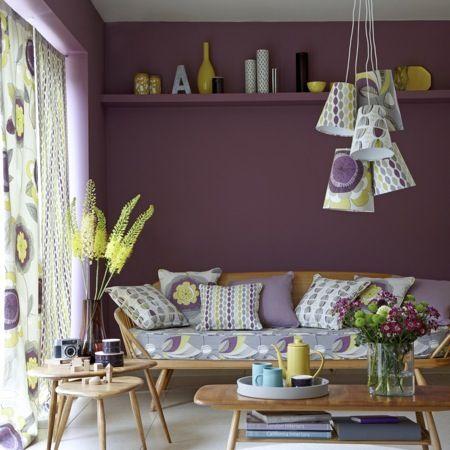 Festival studio g pinturas de pared habitacion lila y - Paredes pintadas originales ...