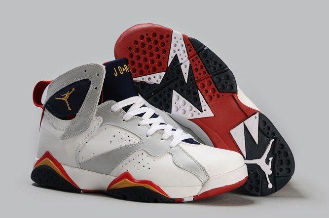Air Jordan 7 (VII) Retro Noir/Rouge pas cher boutique