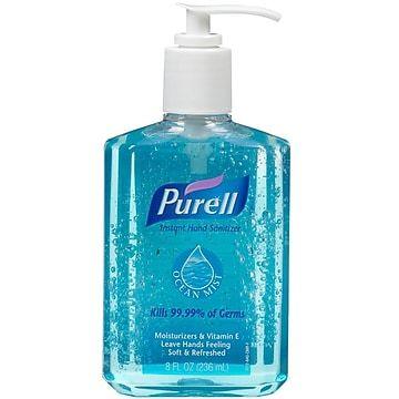 Purell Gel Hand Sanitizer Ocean Mist 8 Oz 3012 12 Hand